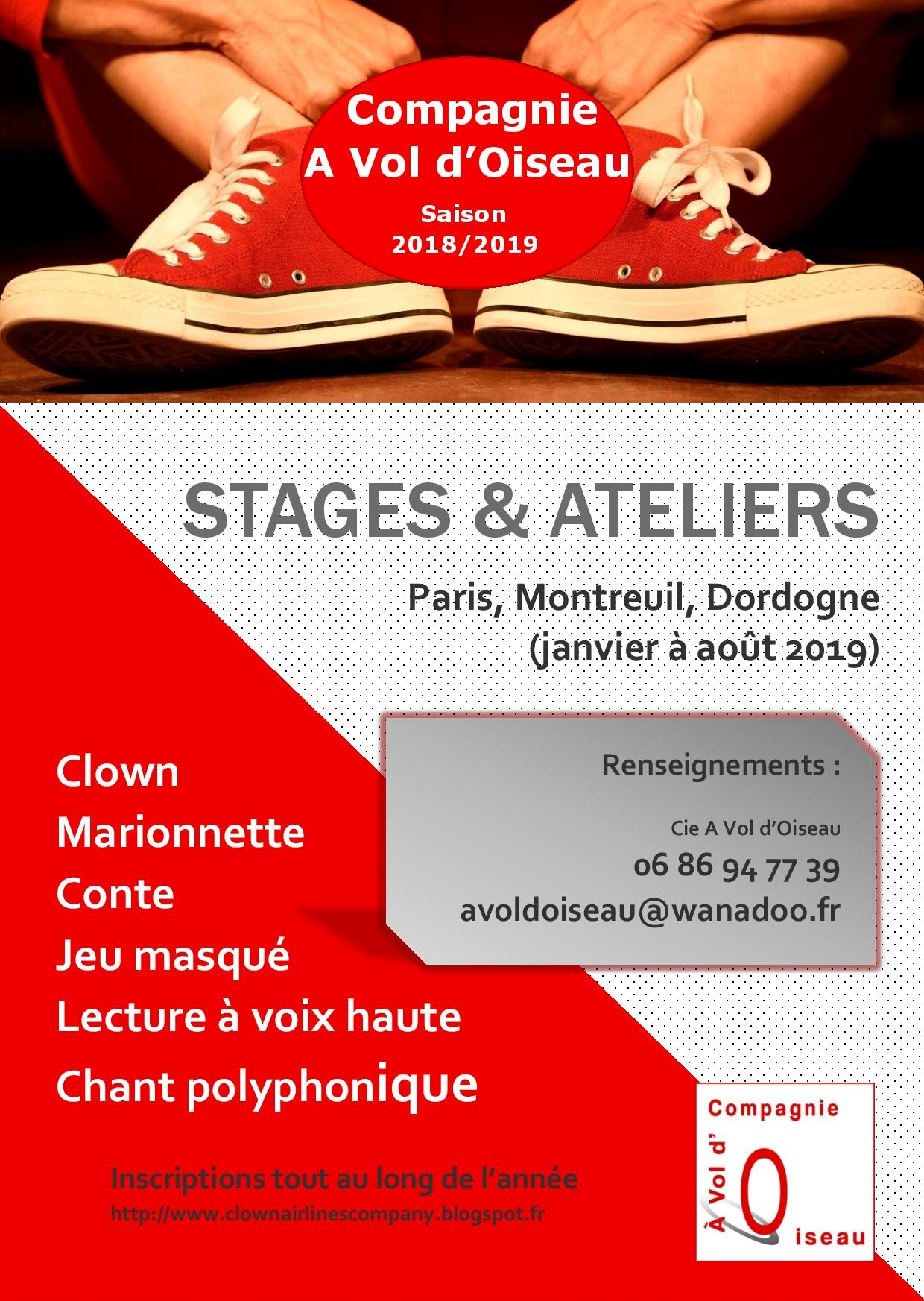 Affiche Stages A4