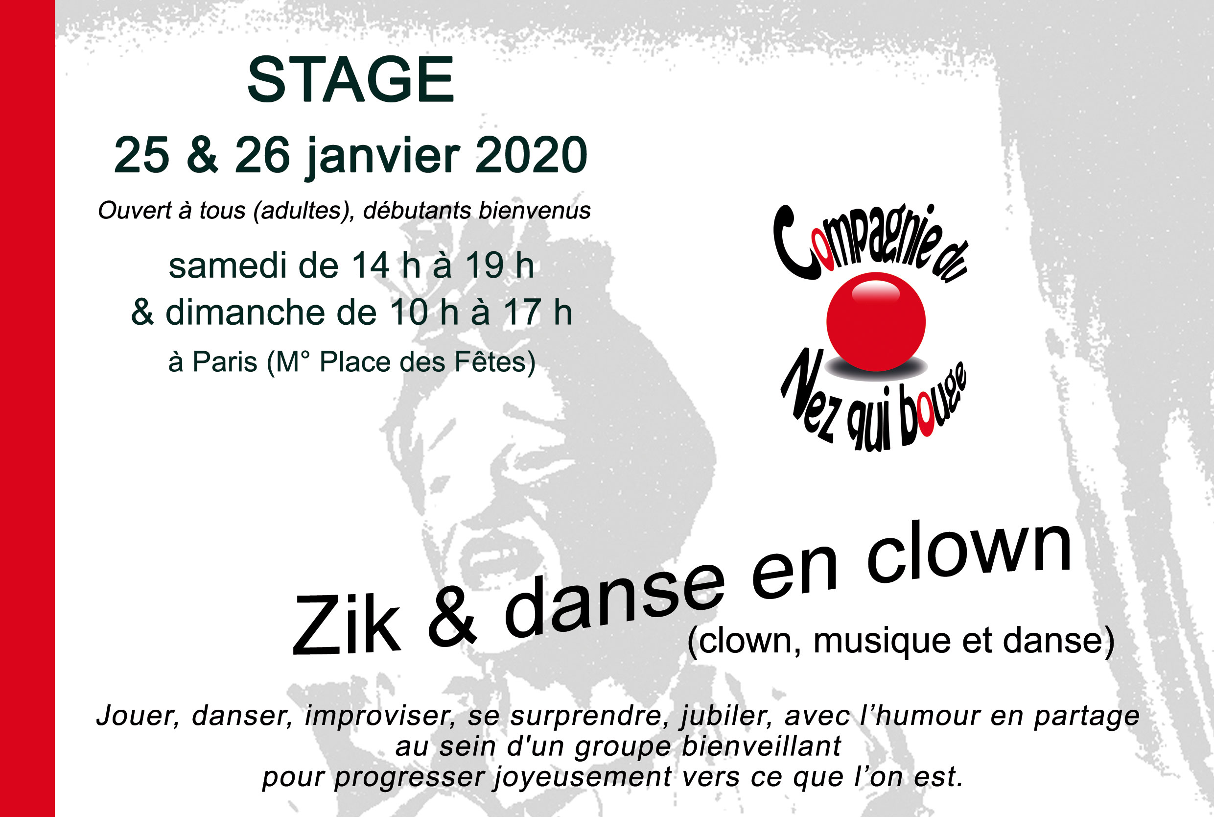 Zik et danse en clown